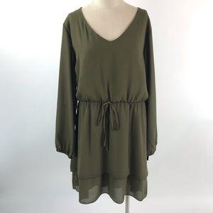 Loralette Womens V-Neck Long Sleeve Dress 3X